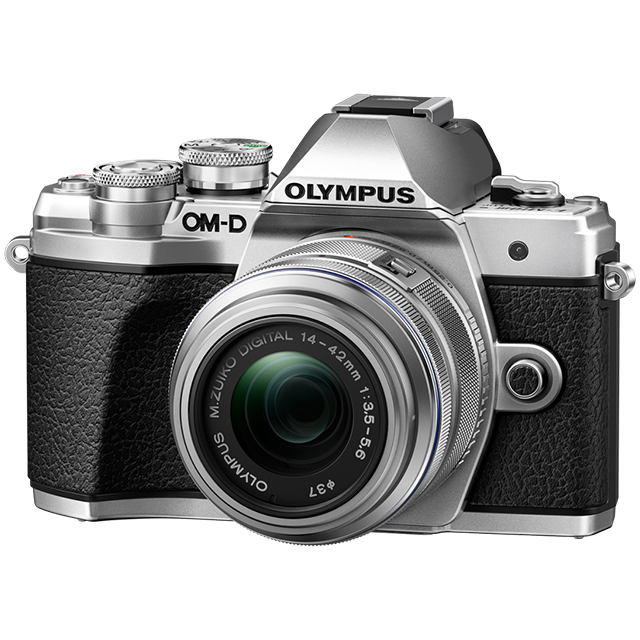 Olympus OM-D E-M10 MARK III Pancake Double Zoom Kit с объективами 14-42 IIR  и 40-150 Silver. Фотокамера с объективом