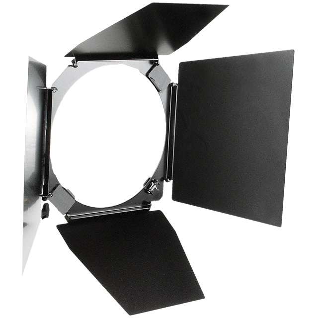 "HENSEL 4-wing Barn Door with Filter Holder for 7"" reflector. Шторки для рефлектора 7"""